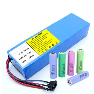 Lithium-Batterie 18650 60V 12AH Lithium-Ionen-Akku-Akku