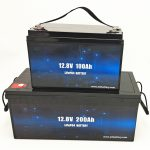 Deep Cycle LiFePO4 Solarbatterie 12V 100Ah / 200Ah Golfwagen Lithium-Ionen-Batterie