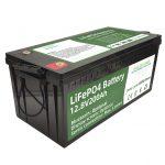 Heißer Verkauf 2.56KWh Lifepo4 Batterie 12V 200Ah 6000 Zyklen RV Batterie