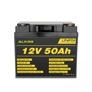 12V 50Ah Rchargeable Deep Cycle Lifepo4 Battery Pack for Electric Power System