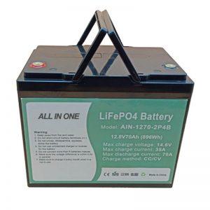 Wiederaufladbare 896Wh Lifepo4 Batterie 12V 70Ah für elektrische Vechile