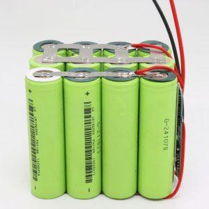 Großhandel kundenspezifische 18650 Lithium 4s3p wasserdichte PCB Board Deep Cycle Batterie 12v 10AH für Elektrowerkzeug